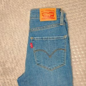 Levi's skinny high rise jeans